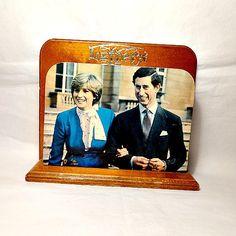 Princess Diana, Prince Charles, Vintage Letter Rack, British Royal Collectible…
