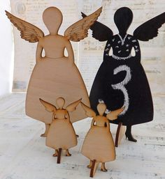 Stand Up Art Doll with Wings:  wooden doll, ready for your handmade touch. Available from ArtChix, $5