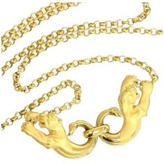 Pre-owned Carrera y Carrera 18K Yellow Gold Panthers Design Necklace ($1,199) ❤ liked on Polyvore featuring jewelry, necklaces, 18 karat gold necklace, yellow gold necklace, gold chain necklace, carrera y carrera necklace and 18k jewelry