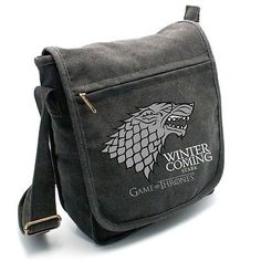 Game of #thrones #stark messenger bag #brand new,  View more on the LINK: 	http://www.zeppy.io/product/gb/2/351631768656/