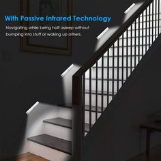 Stairway Lighting Awesome Details About 10 Led Motion Sensor Lights Pir Wireless Night Light Battery Cabinet Stair Lamp Wardrobe Lighting, Closet Lighting, Motion Sensor Closet Light, Light Sensor, Led Night Light, Storm Cellar, Led Closet Light, Tool Sheds, Diy Crafts Home