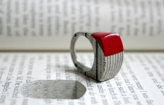 Jeremy May, Littelfy (literary jewels made with laminated paper removed from a book), Serial no#: 248 - 'The Assassini'