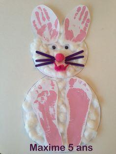 Wooloo | Bricolage de Pâques avec des empreintes