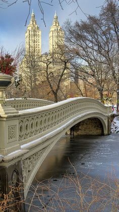 Bow Bridge, Central Park, New York City, NY, US.