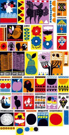 Illustrations for Helsinki Marimekko store by Aino-Maija Metsola. Via http://dcstudio.tumblr.com/.