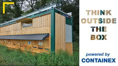 |ThinkOutsideTheBox| Cabins...the first associations might be office cabins, storage containers and so on – but THINK OUTSIDE THE BOX⁉️ CONTAINEX cabins can also be used as a bee house with wooden cladding and green coating so it perfectly fits into the landscape. #CONTAINEX #officecabin #thinkoutsidethebox #beehouse #coating #woodencladding