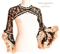 Bolero lace, victorian shrug, romantic, nostalgic, burlesque, Somnia Romantica by Marjolein Turin