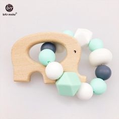 Wood Pacifier Holder Chain Newborn Shower Gifts Bpa Free Impartial Infant Personalise Baby Pacifier Clips Non-toxic Baby Dummy Clips