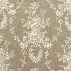 Neutral Toile Drapes, French Country Curtains, Linen-Colored Window Curtains, Shabby Chic, Cottage Decor, Rod-Pocket, One Pair 50W  This