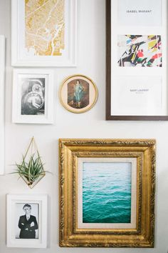 Air plant + gallery art mix | A Sun-Soaked Space to Come Home to in Oakland, CA | Design*Sponge
