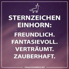 Sternzeichen Einhorn: Freundlich. Fantasievoll. Verträumt. Zauberhaft.
