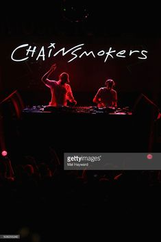 Andrew Taggart and Alex Pall of The Chainsmokers perform on stage at the Billboard Winterfest at Park City Live! on January 21, 2016 in Park City, Utah.
