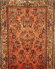 Sarogh,Persien ca 203 x 78 cm. Flor Wolle.