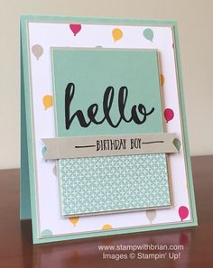 Hello, It's My Party Designer Series Paper Stack, Stampin' Up!, Brian King, CYCI100