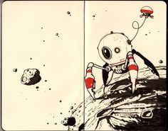 Drawings, doodles, and design | adroidaday: Droid #352: Updated Asteroid...