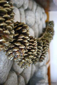 DIY Pinecone Garland // simplyhappenstance.com #DIY #Pinecone #Garland #Christmas