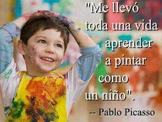 Pintar como un niño (Pablo Picasso)