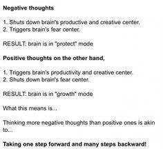 results of negativity