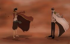 The Pirate king and the Admiral - Monkey D. Luffy and Coby One piece