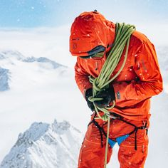 is one of a select few who got a spot at this years mountain guide program at No wonders, since… Big Mountain, Ski Touring, Freedom Of Movement, Fabric Textures, Gore Tex, Skiing, Shells, Orange, Jackets