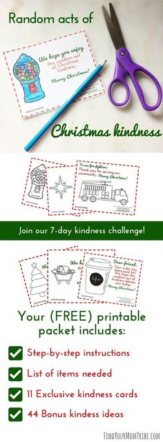 I cannot WAIT to do these Random Acts of Kindness…