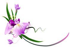 Roxo floral bonito Decor PNG Clipe