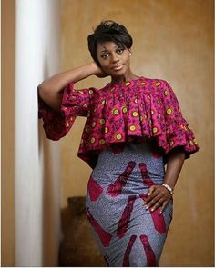 Trending and Stylish ankara trousers and top trend of all times, These ankara trousers are meant to make you look fabulous in your favorite African fabric African Print Dresses, African Dresses For Women, African Attire, African Wear, African Fashion Dresses, African Women, Ankara Fashion, African Prints, Ghanaian Fashion