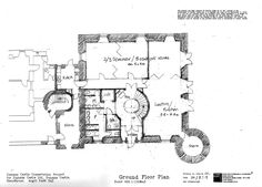 Dunans Castle draft plan - The Ground Floor! Ground Floor Plan, To Go, Castle, Floor Plans, Notes, Activities, How To Plan, Places, Projects