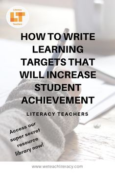 How to Set Instructional Goals to Increase Student Achievement Engage In Learning, Learning Targets, Learning Objectives, Student Learning, Instructional Coaching, Instructional Strategies, Reading Practice, Teaching Reading, Reading Strategies