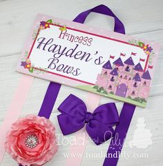 HAIR BOW HOLDER  Personalized Princess Fairytale by ToadAndLily