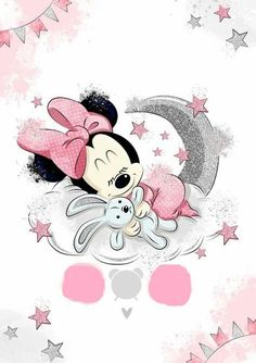 Minnie Mouse Cartoons, Minnie Mouse Pictures, Baby Mickey Mouse, Baby Clip Art, Baby Art, Mickey Mouse Wallpaper, Disney Wallpaper, Minnie Mouse Drawing, Poster Photo