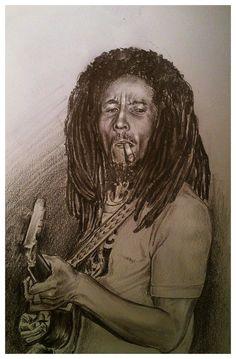 JEREMY WORST Bob Marley Sketch Original Artwork Signed Framed Print on Etsy, $50.00
