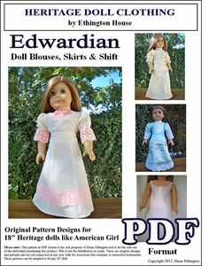 Edwardian Doll Blouses Skirts and Shift Pattern by MotherofNine, $5.00