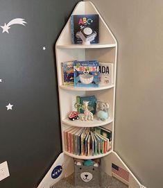 Ideas Habitaciones, Bookshelves Kids, Bookshelf Ideas, Kids Room Design, Baby Boy Rooms, Room Themes, Baby Room Decor, Kids Furniture, Kids Bedroom