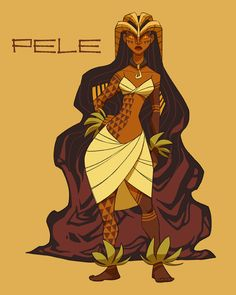 Pele, Fire Goddess of Kilauea by Clair Hummel (*shoomlah on deviantart)