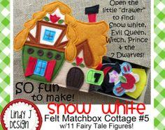 Fairy Tale MATCHBOX Cottage 8 PRINCESS and PEA por LindyJDesign