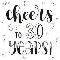 Verjaardagskaart - Cheers to 30 years! - Verjaardagskaarten