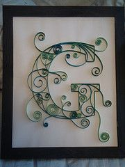 """quilling....how fun...maybe I can figure out how to do a """"C""""."""