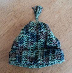 Chldren's hat crochet cotton shades of by LindaHansonDesigns