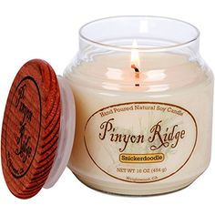 Authentic Hand Poured Natural Soy Candle 16oz  Snickerdoodle  100 Hour Burn Time  Crafted in the USA by Pinyon Ridge -- This is an Amazon Affiliate link. You can find out more details at the link of the image.