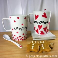 Using Efco's Color Dekor 180ºC it's easy to make a personalised mug as a unique Valentine's Day pressie! Punch or cut your desired shapes, place them in water to slide them off their backing sheet, position them on your mug squeezing out the excess water and leave to dry for 24hrs. Then bake in an oven at 180ºC for 30 mins.