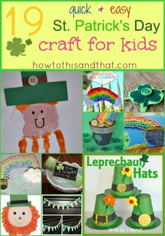 19 Quick & Easy St. Patrick's Day #Crafts For #Kids #stpatricksday