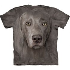 This amazingly realistic shirt is designedfor all dog lovers! The awesome 'The Mountain Weimaraner T-Shirt'is createdspecial for you by The Mountain. The dog shirt is hand-dyed with special eco-friendly nontoxic inks in the USA and the image of Weimaraner dog won't fade even after many washes. This pseudo 3D t-shirt is comfortable and made from durable 100% cotton. You will surely get many compliments wearing this cool tee. Shop now at the clothingmonster.com!