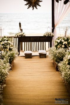 wedding aisle at the beach Rustic Church Wedding, Wedding Church Aisle, Church Wedding Decorations, Wedding Altars, Wedding Art, Wedding Flowers, Dream Wedding, Aisle Style, Best Friend Wedding