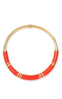 Positano 18K Gold and Resin Necklace by Aurélie Bidermann Now Available on Moda Operandi