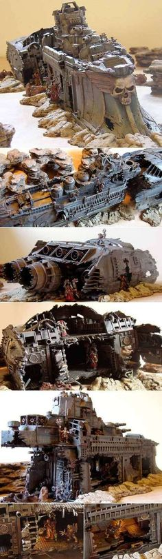 Wreck of the Dauntless. This is an amazing scratch build wreck which must make a cool centerpiece for a game.