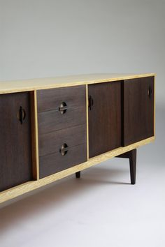 Erik Wörts, Oak and Wenge Sideboard, 1950s.