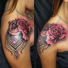 Image result for shoulder cap tattoo