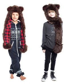 Cute bear hat / scarf