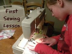 My daughter's first sewing lesson!  We had a great time and ended up with a beautiful blanket for her dolls!